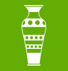 egyptian vase icon green vector image vector image