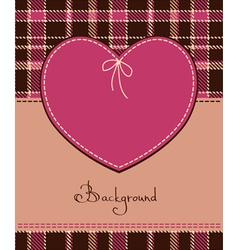 heart in textile style vector image vector image