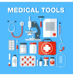 medical Medical Tools Icons Set Health Care Stuff vector image vector image