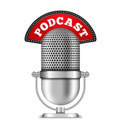 Podcast vector image vector image