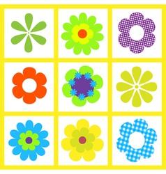 retro brigt flower vector image vector image