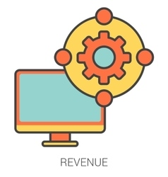 Revenue line icons vector