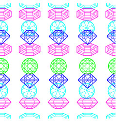 seamless pattern from diamond vector image