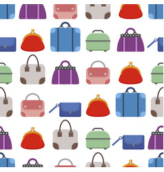 set of bags seamless pattern vector image vector image
