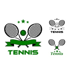 Tennis sport badges and emblems vector image vector image