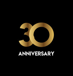 30 year anniversary simple template design vector
