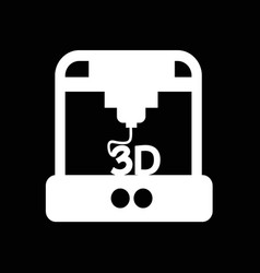 3d printing icon design vector image