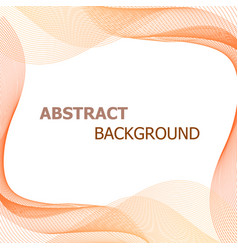 abstract background with orange lines wave vector image