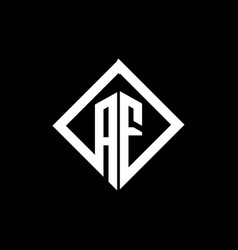 Af logo monogram with square rotate style design vector