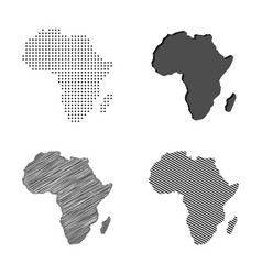 Africa map african continent vector