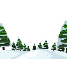 an outdoor winter landscape vector image