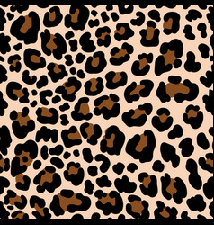 Animal pattern leopard seamless background vector