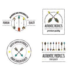 Authentic logos vector