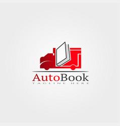 Automobile library icon template creative logo vector