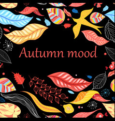 Autumn bright colorful background vector