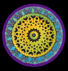 baroque mandala pattern floral antique ornamental vector image