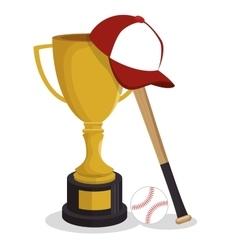 baseball club sport label trophy vector image