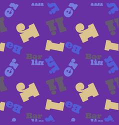 Berlin seamless pattern vector