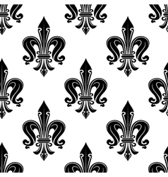 Black french fleur-de-lis seamless pattern vector