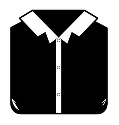 Black sections silhouette of man shirt folded vector