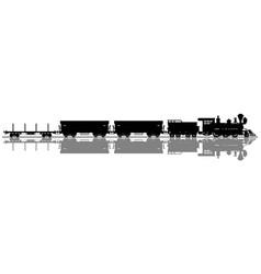 black silhouette a wild west steam train vector image