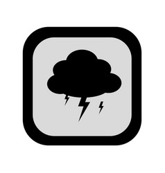 black silhouette square frame with rain storm vector image