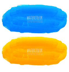 blue and yellow watercolor texture background vector image vector image