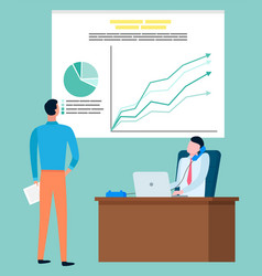 brokers company investment rate statistics graphic vector image