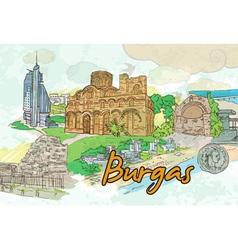 Burgas doodles vector