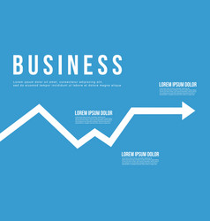 Business infographic arrow chart design vector