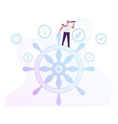 Business success challenge concept businessman vector