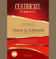 Certificate or diploma modern design template 4203 vector
