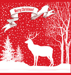 Christmas holiday background snow winter vector
