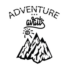 Concept travel discovery hiking adventure vector