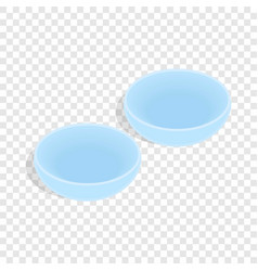 Contact lenses isometric icon vector