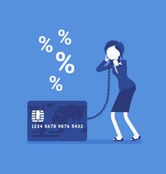 credit card female cardholder percentage rate vector image