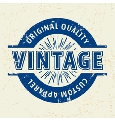 Custom vintage stamp vector image