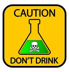Danger chemicals sign vector image