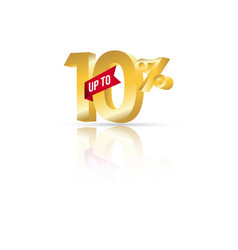 discount up to 10 template design vector image