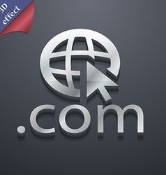Domain COM icon symbol 3D style Trendy modern vector