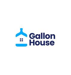 drink water gallon house refill logo icon vector image