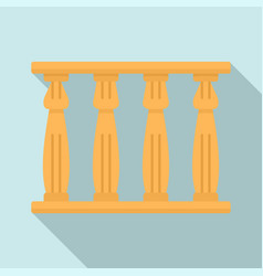 egypt temple towers icon flat style vector image