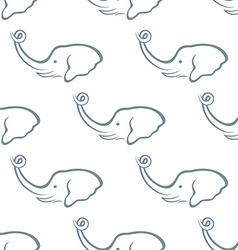 Elephant head seamless pattern vector