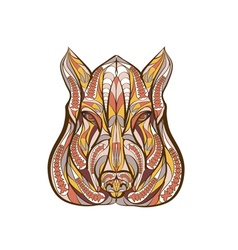 ethnic boar vector image