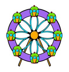 ferris wheel icon icon cartoon vector image