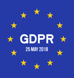 general data protection regulationgdpr vector image