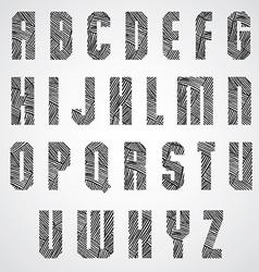 Geometric shape bold poster letters font vector