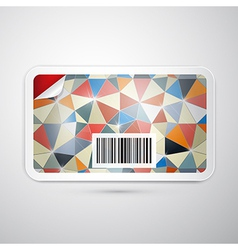 Gift Card Isolated on Grey Background vector image