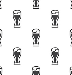 glass of beer seamless pattern vector image