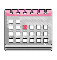 grated calendar to date information event days vector image